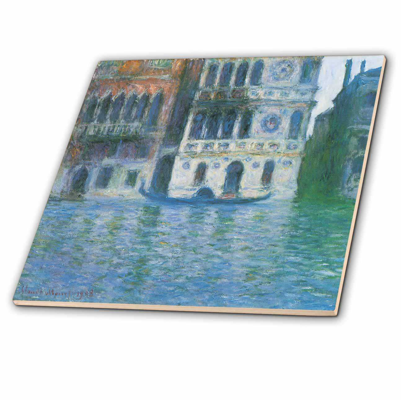 3dRose The Palazzo Dario by Claude Monet 1908 - Ceramic Tile, 4-inch